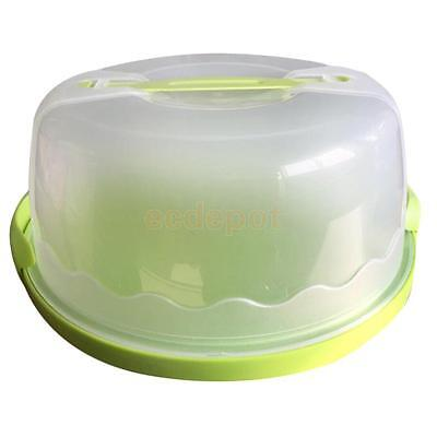 Portable Cake Cupcake Dessert Bake Box Case Carrier Storage Container Green