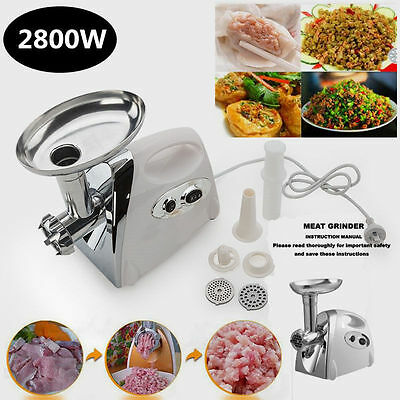 2800w Electric Stainless Steel Meat Grinder Mincer Tomato Onion Sauce Maker Kit