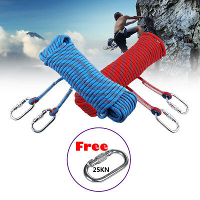 10-30M 10mm Static Rope Rescue Rope Rock Climbing Rappelling Tree Arborist Cord
