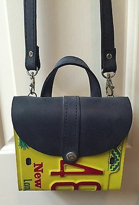 Little Earth Recycled New Mexico License Plate Purse Shoulder Bag