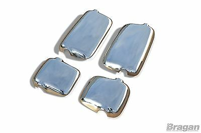 MAN TGA Polished Stainless Steel Mirror Covers Truck Accessories 4 Piece Set