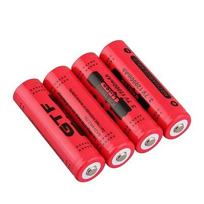 18650 3.7V 12000mAh Rechargeable Li-ion Battery for LED Torch Flashlight IB