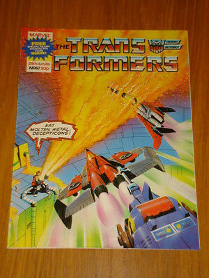 Transformers British Weekly #67 Marvel Uk Comic 1986 Rare Rocket Racoon Story