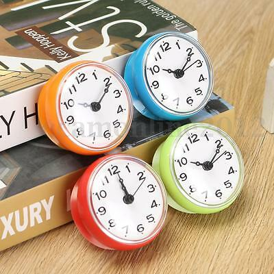 Waterproof Kitchen Bathroom Shower Suction Wall Clock North Europe Simple Style