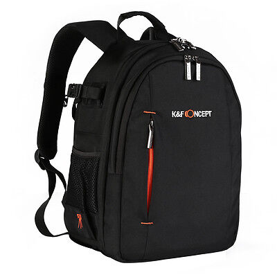 DSLR SLR Camera Backpack Photo Bag Case for Canon Nikon Sony Free Weather Cover