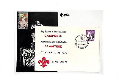 AJ242 1970 South Africa Scout Commemorative Cover/Postcard Pair