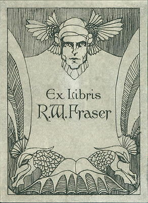 'R W Fraser'   Bookplate      (JC.74)