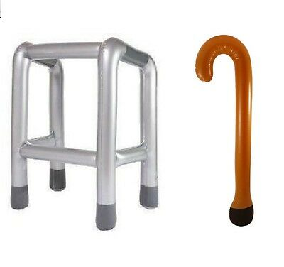 Inflatable Blow Up Party Pack Zimmer Frame Walking Stick Joke Gift Hen Stag Do