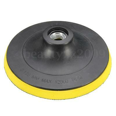 125mm/5'' Backing Pad Hook & Loop Polishing Pad Sanding Disc Attach Removal Fast