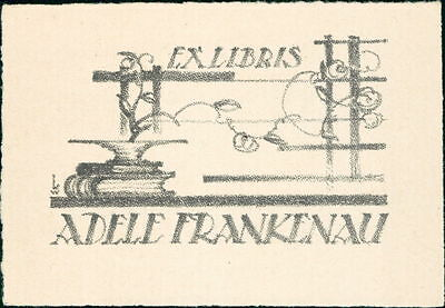 'Adele Frankenau'  Bookplate    (JC.103)