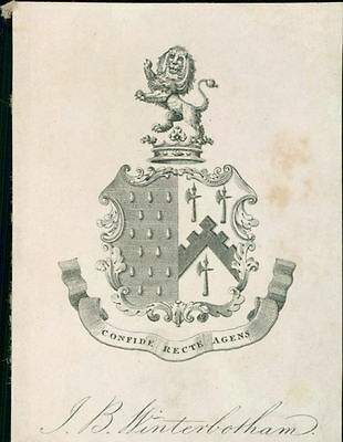 'J. B. Winterbotham'  Bookplate    (JC.116)