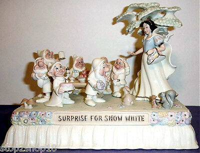 Lenox Disney AT THE PARADE WITH SNOW WHITE Float Figurine & 7 Dwarfs New