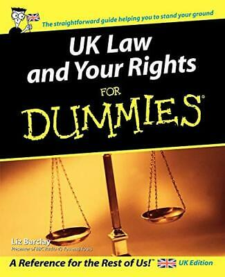 UK Law and Your Rights For Dummies by Liz Barclay Paperback Book The Cheap Fast