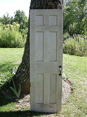 ANTIQUE DOOR NEW ENGLAND 6 Panel 18th-19th CENTURY INTERIOR 78 x 24