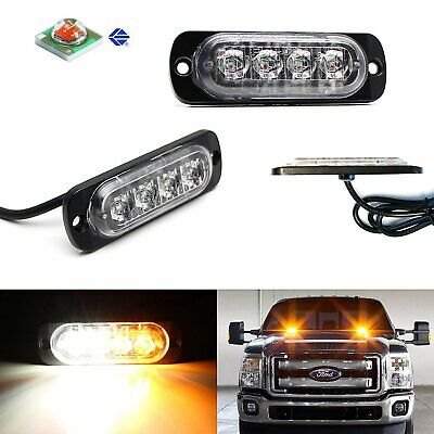 2pc CREE 4-LED Strobe Warning Light Flashers For Truck Trailer Pick-up SUV