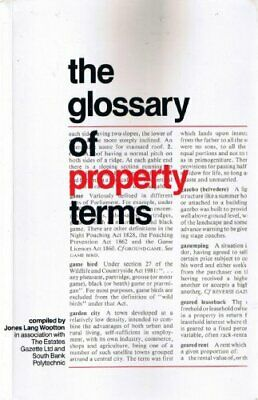 The Glossary of Property Terms by Estates Gazette Limited Paperback Book The