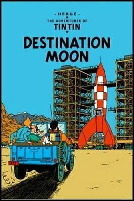 Destination Moon (The Adventures of Tintin) by Hergé Paperback Book The Cheap