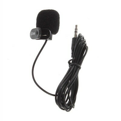 New 3.5mm Mini Studio Speech Mic Microphone w/ Clip for PC Desktop Notebook  KK