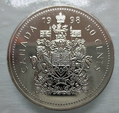 1998W Canada 50 Cents Proof-Like Coin