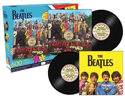 THE BEATLES - Sgt. Peppers 600 Piece 2-Sided Jigsaw Puzzle *NEW*