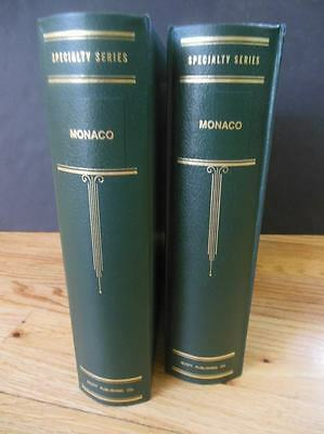 MONACO : A Beautiful all Mint collection in 2 Scott Specialty albums. Cat $6,825