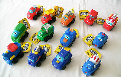 "TONKA CHUCK & FRIENDS Miniature Plastic 2½"" PLAYSKOOL WHEEL PALS - Menu Choice"