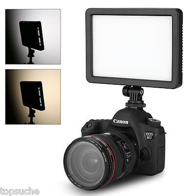 128 LED Video Studio Light Dimmable Panel Lamp for Canon Nikon Camera Camcorder