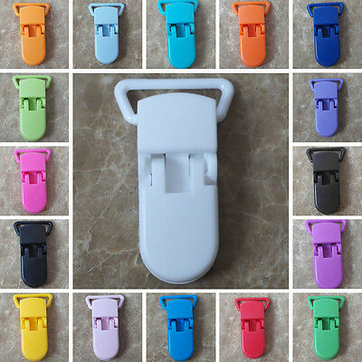 10pcs Plastic Dummy Pacifier Clips Anti-Lost Holder Bulk Baby Infant Strap #