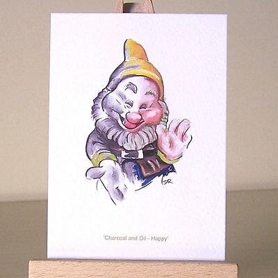 ACEO Card Snow White Evil Queen WDCC Art Deco villains drawing