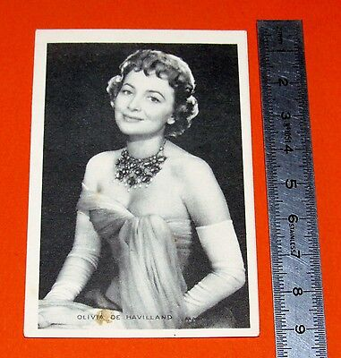 Carte Photo Publicite Biscottes Luc Annees 1950 Jane Russel Actrice Cinema