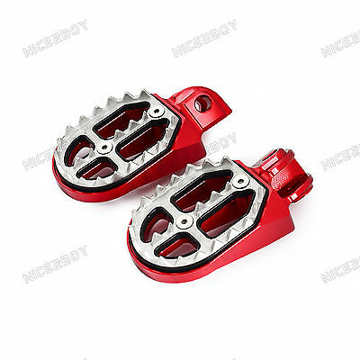Red Wide Foot Pegs Footrests For Beta 350RR/400RR/450RR 4T 2010-2012 2013 2014