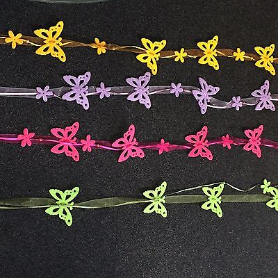120 Butterfly Garlands  4 Colours Wholesale Clearance Bankrupt Retail Stock