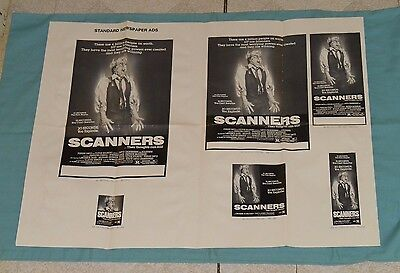 original SCANNERS advertising ad slicks