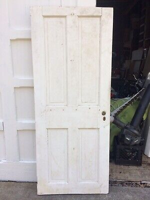 ANTIQUE DOOR NEW ENGLAND 4 Panel 19th CENTURY INTERIOR 74 x 30