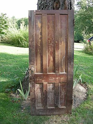 ANTIQUE DOOR NEW ENGLAND 6 panel interior  door  74 1/2 x 34 1/4