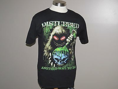 Disturbed T Shirt Men's Black Size Large Another Way To Die