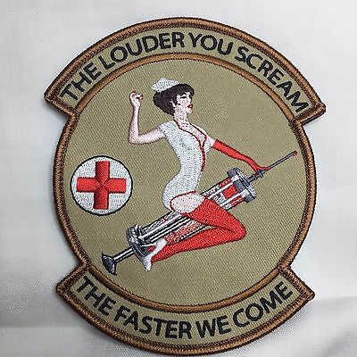 The Louder You Scream The Faster We Come EMS DESERT Patch MEDIC Hook and Loop