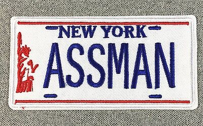 Cosmo Kramer's Impala NY ASSMAN License Plate Patch Seinfeld TV iron on si