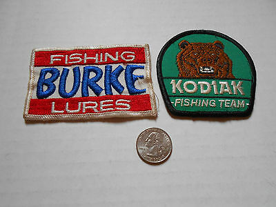 Vintage Embroiderd Cloth PATCH   Kodiak Fishing Team Burke Lures shirt or hat