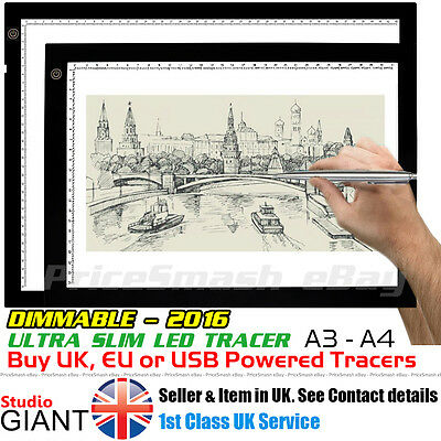A4 A3 LED Tracing Copy Board Tracer Pad Light Box Tattoo Sketch Art Photo Thin