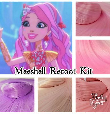 Ever After High Meeshell Mermaid Doll Re-root Kit Pink Colors Nylon Rooting Hair