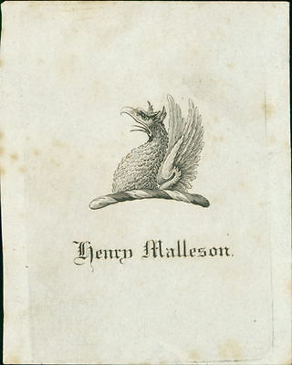 'Henry Malleson'   Bookplate (JC.169)