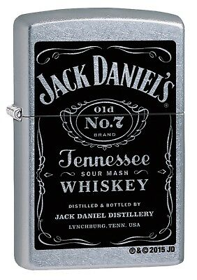 Zippo Chrome Jack Daniel's Windproof Cigarette Lighter Genuine Smokers Accessory