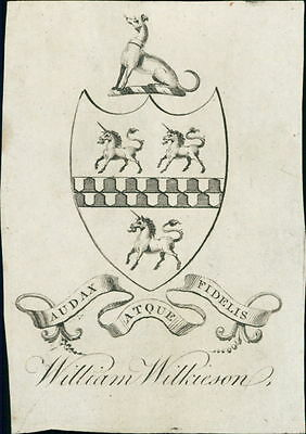 'William Wilkinson' Bookplate (JC.177)