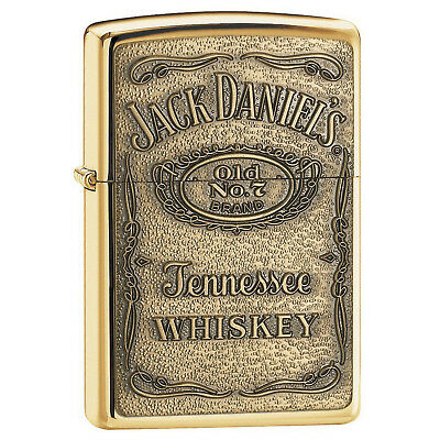 Zippo Brass Jack Daniel's Windproof Cigarette Lighter Genuine Smokers Accessory