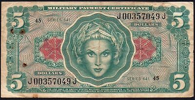 Military Payment Certificate 5 Dollars Banknote Series 641 $5 Dollar