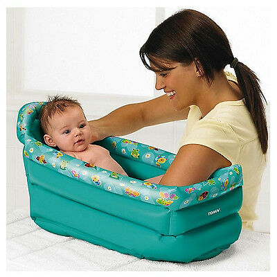 Tomy Be Baby Childrens Inflatable Travel Portable Bath Infant Washing Wash Tub