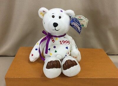 Limited Treasures Holiday Test Issue Celebration Bear 1999 Retired 12/25/98