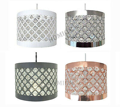 Easy Fit Moda Modern Sparkly Ceiling Pendant Light Shade Jewel Lamp Fitting New