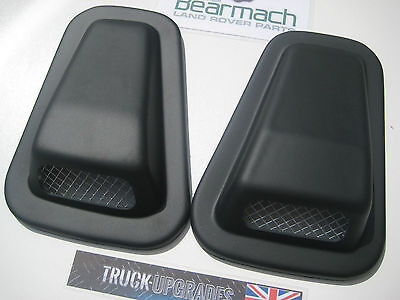 Land Rover Defender 90, 110, Air Intake Scoop Set with Mesh Fronts, Bearmach